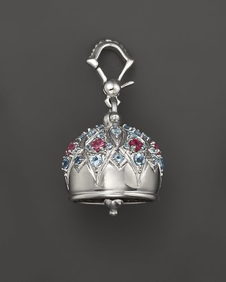 """Paul Morelli #4 Cathedral """"Meditation Bell"""" with Blue Topaz and Pink Rhodolite Stones"""