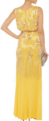 Mikael Aghal Beaded knitted gown