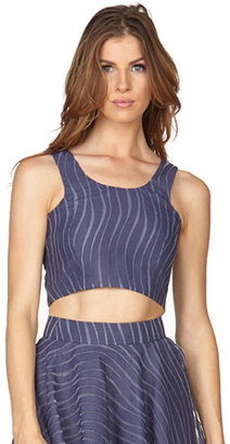 Stella and Jamie - Oasis Cropped Tank Top | Navy