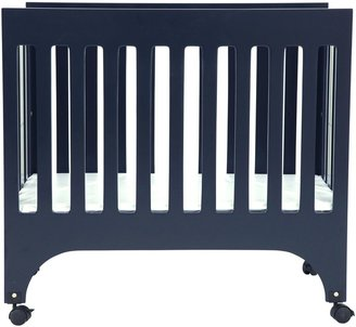 Grayson Babyletto Mini Crib with Pad - Navy
