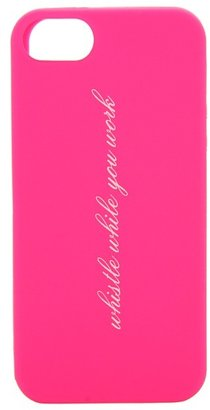 Kate Spade Whistle While You Work Case for iPhone 5 (Zinnia Pink/Cream) - Bags and Luggage