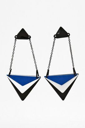 French Connection Graphic Drop Earrings