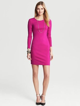 Banana Republic Ponte Zip-Back Dress
