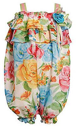 Bonnie Jean 2T-6X Ruffle Floral Party Pants