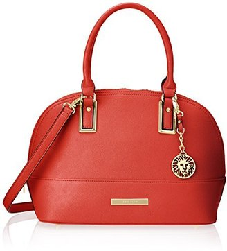 Anne Klein Shimmer Down Dome Satchel Bag $42.53 thestylecure.com
