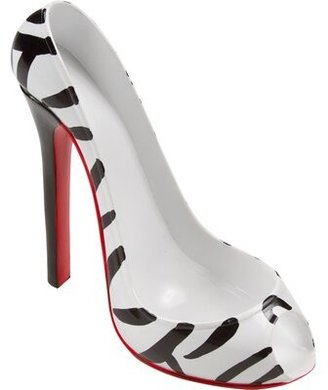 KitchInnovations Zebra Print High Heel 1 Bottle Tabletop Wine Bottle Rack