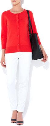 Wallis Red Cotton Cardigan