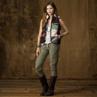 Denim & Supply Ralph Lauren Patchwork Faux-Fur Vest