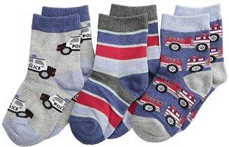 Jefferies Socks Rescue Vehicles 3 Pack (Infant/Toddler/Little Kid) (Speedy) Boys Shoes