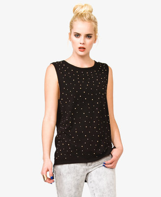 Forever 21 Studded Muscle Tee