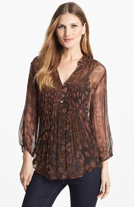Casual Studio Pintuck Front V-Neck Blouse
