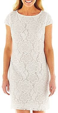 JCPenney 9 & Co.® Allover Lace Shift Dress