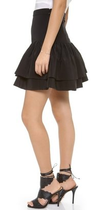 Cynthia Rowley Double Flounce Skirt