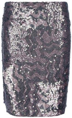 Gold Hawk sequin skirt
