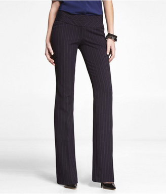 Express Herringbone Stripe Studio Stretch Editor Pant