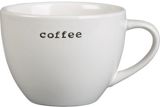"Crate & Barrel ""Coffee"" Mug"