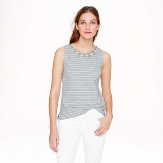 J.Crew Stripe necklace shell