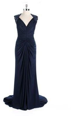 Tadashi Shoji Embellished Sleeveless Gown