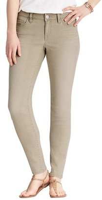 LOFT Curvy Skinny Ankle Jeans in Caramel