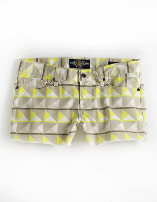 Lucky Brand Riley Printed Cut-Off Denim Shorts