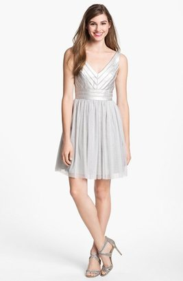 Aidan Mattox Embellished Tulle Fit & Flare Dress (Online Only)
