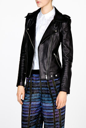 Theyskens' Theory Nomi Jiker Leather Biker Jacket