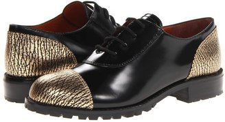 Marc by Marc Jacobs Cracked Metallic Oxford (Gold) - Footwear