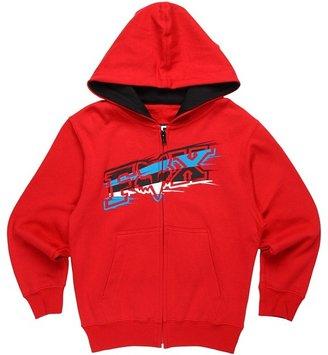 Fox Sharpstreak Zip Front Hoodie (Little Kids/Big Kids) (Red) - Apparel