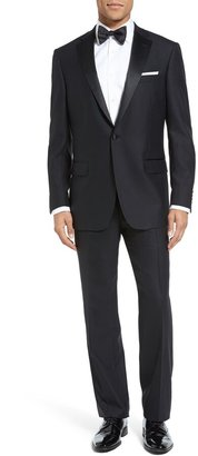 Hart Schaffner Marx New York Classic Fit Black Wool Tuxedo