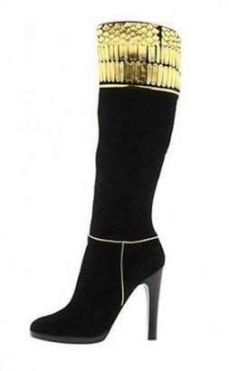 Roberto Cavalli pristine (PR Black Suede Boots sz 36.5