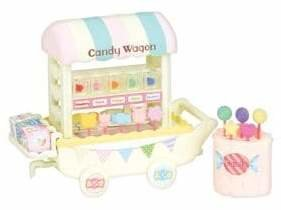 Calico Critters Candy Wagon Toy Set