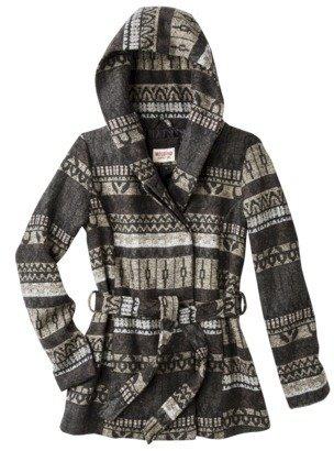 Mossimo Junior's Printed Wool Wrap Jacket -Grey