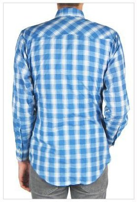 Levi's Orville and Frances Slim Plaid Button Up in Blue and Cream