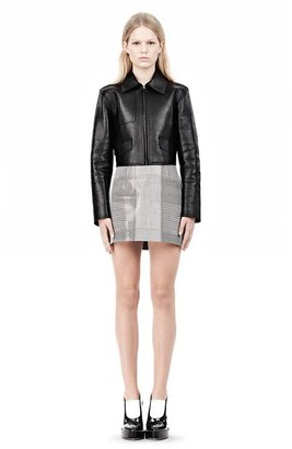 Alexander Wang Exclusive Bonded Zip Front Jacket With Knit Back