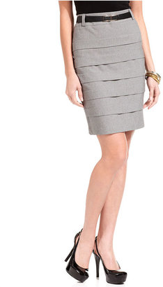 Amy Byer Juniors Skirt, Paneled Pencil
