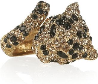 Roberto Cavalli Gold-plated Swarovski crystal panther ring