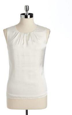 Jones New York Collection JONES NEW YORK Pleated Neck Sleeveless Top