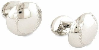 David Donahue 'Baseball' Sterling Silver Cuff Links