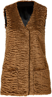 Jil Sander Navy Mohiar-Wool Vest