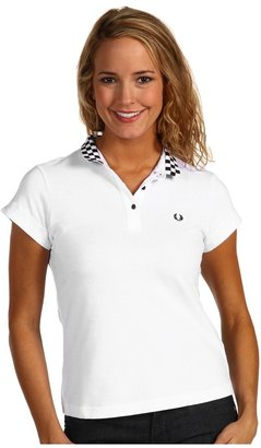 Fred Perry Amy Winehouse Collection Polo w/ Checkerboard Collar (White) - Apparel