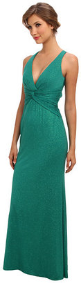 Laundry by Shelli Segal Halter Glitzy Knit Gown