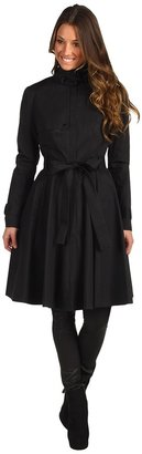 Robert Rodriguez Fit and Flare Trench (Black) - Apparel
