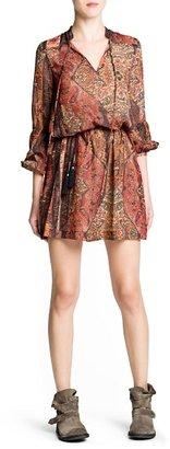 MANGO Ethnic print chiffon dress