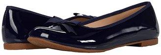 Elephantito Paris Flat (Toddler/Little Kid/Big Kid) (Patent Navy) Girl's Shoes