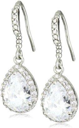 Nina Bridal Delicate Crystal Encrusted Cubic Zirconia Teardrop Earrings
