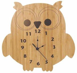 Trend Lab Owl Wall Clock Bamboo Finish