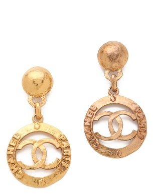 WGACA Vintage Chanel CC Paris Drop Earrings