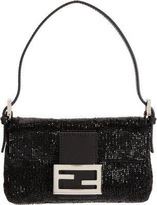 Fendi Beaded Mini Baguette Bag