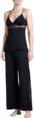 Cosabella Ace of Hearts Lace-Inset Lounge Pants