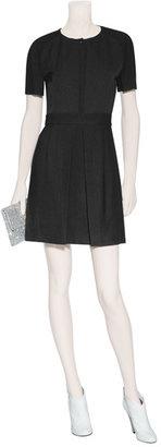 Vanessa Bruno Black Mixed-Media Dress